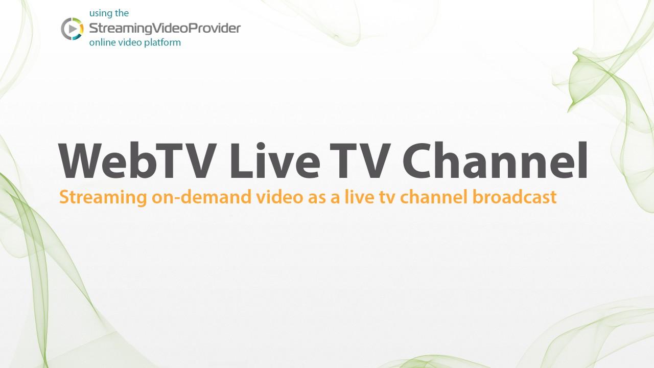 Create TV Channel Online